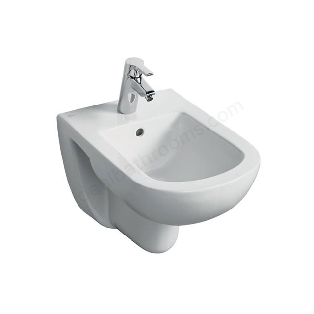 Ideal Standard TEMPO Wall Hung Bidet; 1 Tap Hole; White
