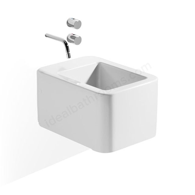 Roca ELEMENT Wall Hung Bidet; 0 Tap Hole; White