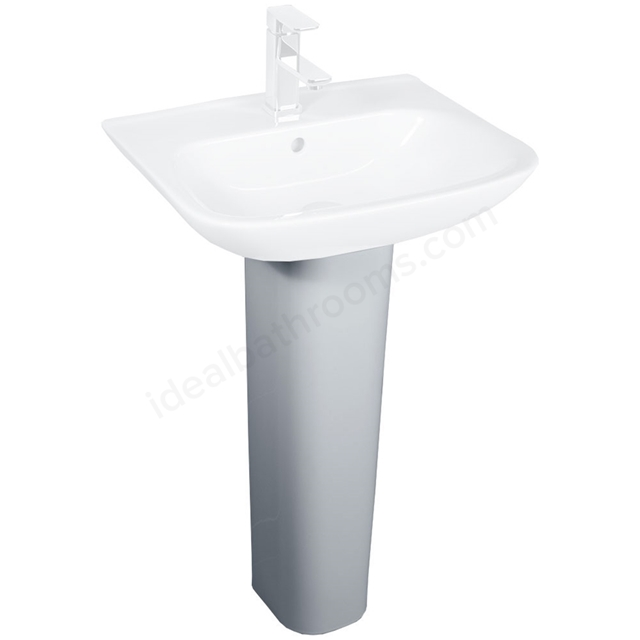 Essential VIOLET Full Pedestal Only, White