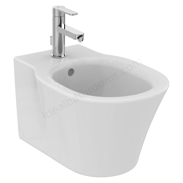 Ideal Standard CONCEPT AIR Wall Hung Bidet; 1 Tap Hole; White