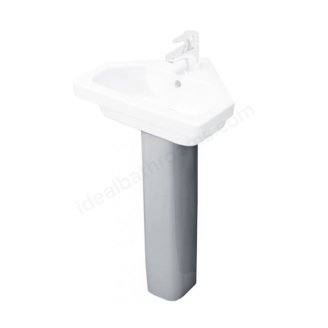 Essential IVY Slimline Full Pedestal Only, White