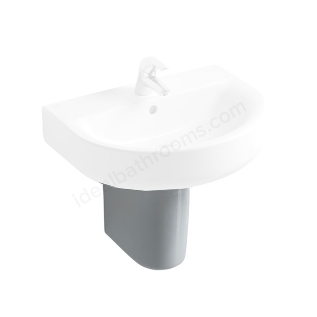 Ideal Standard CONCEPT Large Semi Pedestal for 500mm & 550mm & 600mm Basins, White