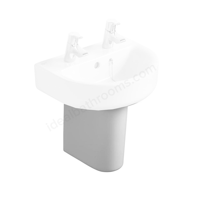 Ideal Standard CONCEPT Small Semi Pedestal for 400mm & 450mm & 500mm Basins; White
