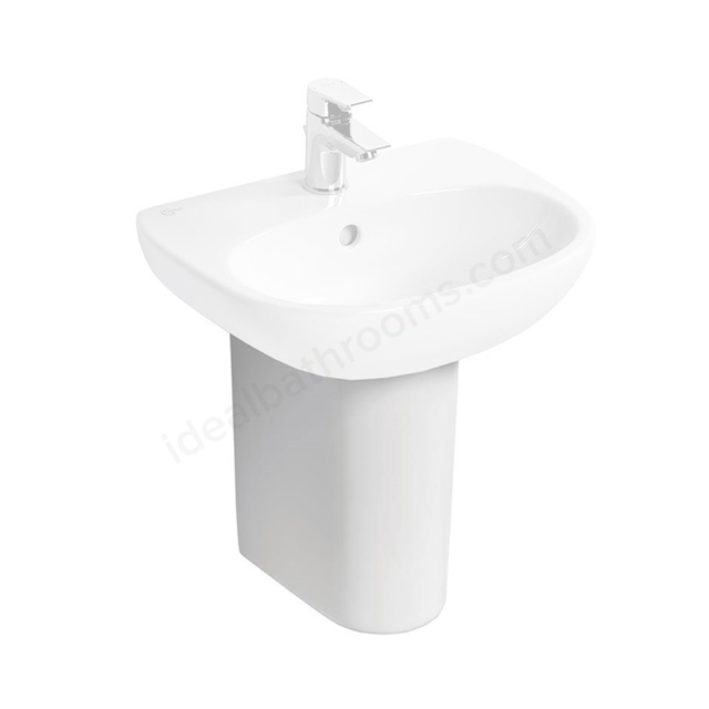 Ideal Standard TESI Small Semi Pedestal; White