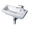 Essential IVY Slimline Basin Only; 450mm Wide; Right Handed 1 Tap Hole; White