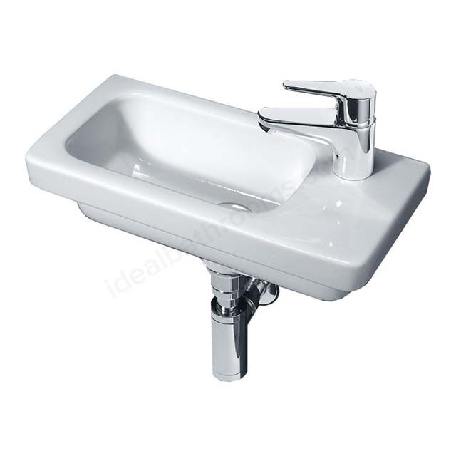Essential IVY Slimline Basin Only, 450mm Wide, Right Handed 1 Tap Hole, White