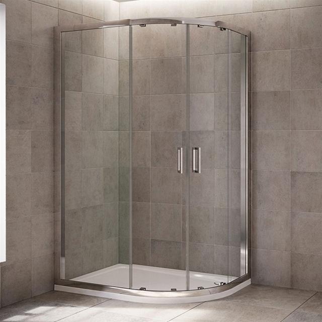 Flight Bathroom Door: Mira LEAP Quadrant Shower Enclosure Panels (No Door), 6MM