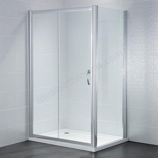 April identiti2 1000mm wide sliding shower door 6mm glass for 1000mm sliding shower door