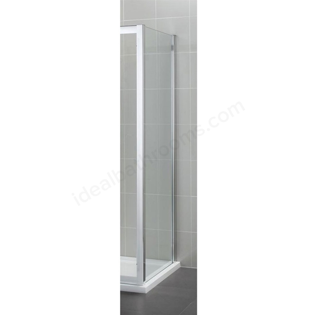 Ideal Standard SYNERGY Fixed Side Panel; IdealClean 8MM Glass; 900mm; Bright Silver Frame
