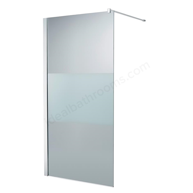 Ideal Standard SYNERGY Freedom Wetroom Panel Panel; IdealClean Modesty 8MM Glass; 1000mm; Bright Silver Frame