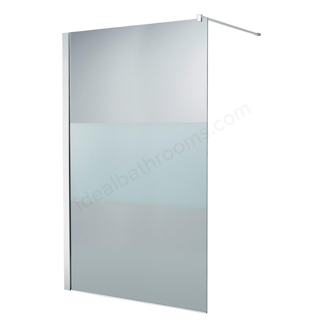 Ideal Standard SYNERGY Freedom Wetroom Panel Panel; IdealClean Modesty 8MM Glass; 1200mm; Bright Silver Frame