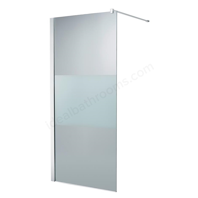 Ideal Standard SYNERGY Freedom Wetroom Panel Panel; IdealClean Modesty 8MM Glass; 900mm; Bright Silver Frame