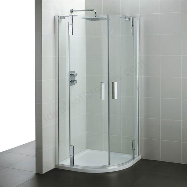 Ideal Standard TONIC Quadrant Enclosure Panels, IdealClean 8MM Glass, 900x900mm, Bright Silver Frame