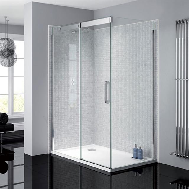 April Prestige Frameless 1200mm Wide Sliding Shower Door 8mm Glass