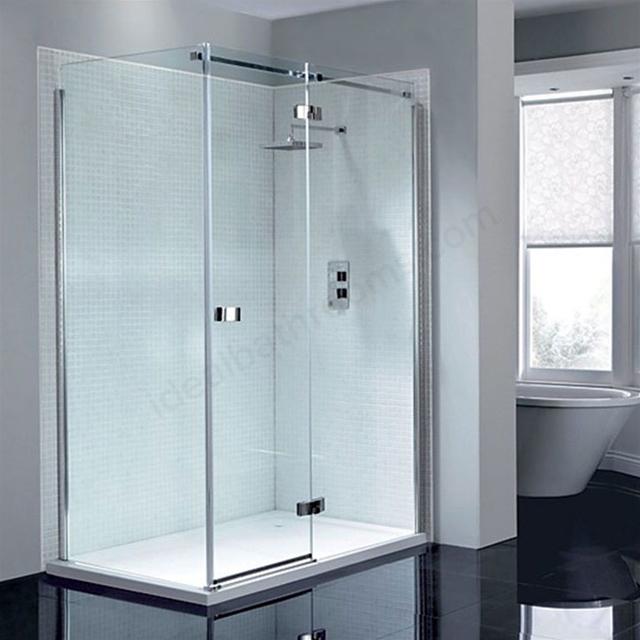 april prestige frameless 1200mm wide hinged shower door
