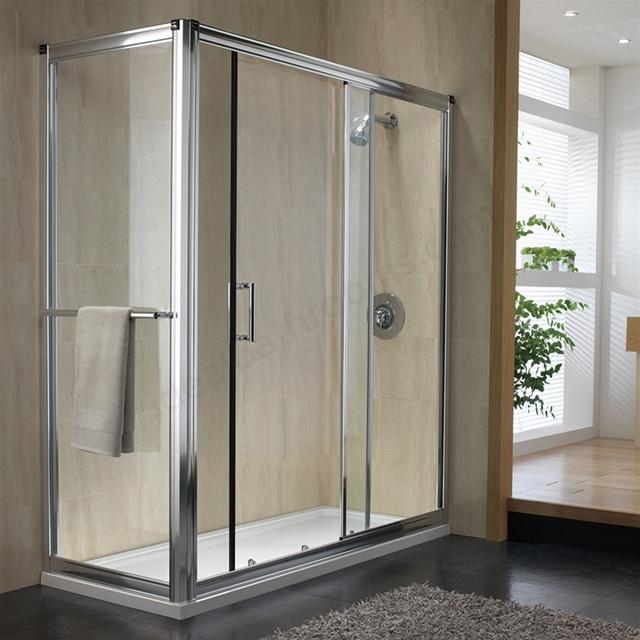 Twyford Hydr8 1200mm Wide Sliding Shower Door 8mm Glass Ideal