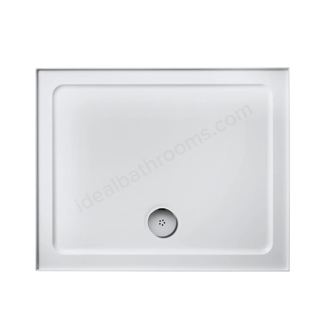 Ideal Standard IDEALITE Rectangular Low Profile Shower Tray + Waste; Upstand; 900x760mm; White