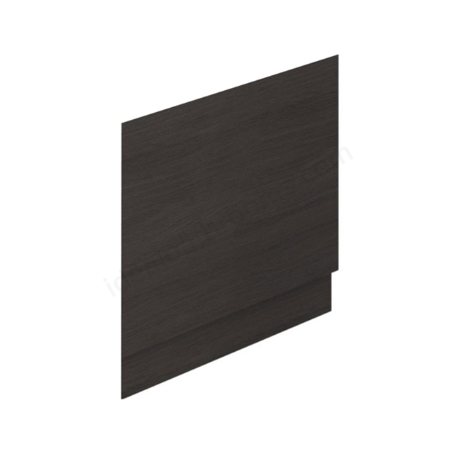 Essential VERMONT MDF End Bath Panel; 800mm Wide; Dark Grey