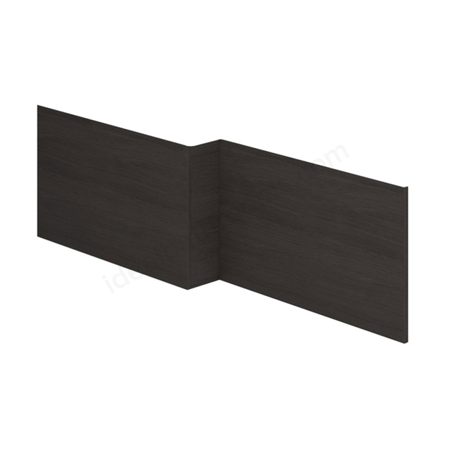 Essential VERMONT MDF L Shape Showerbath Front Bath Panel; 1700mm Wide; Dark Grey