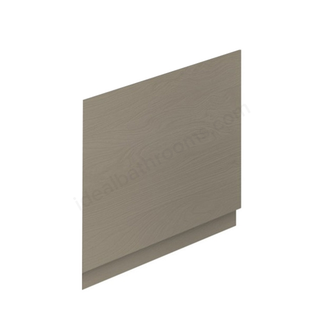 Essential VERMONT MDF End Bath Panel; 800mm Wide; Light Grey