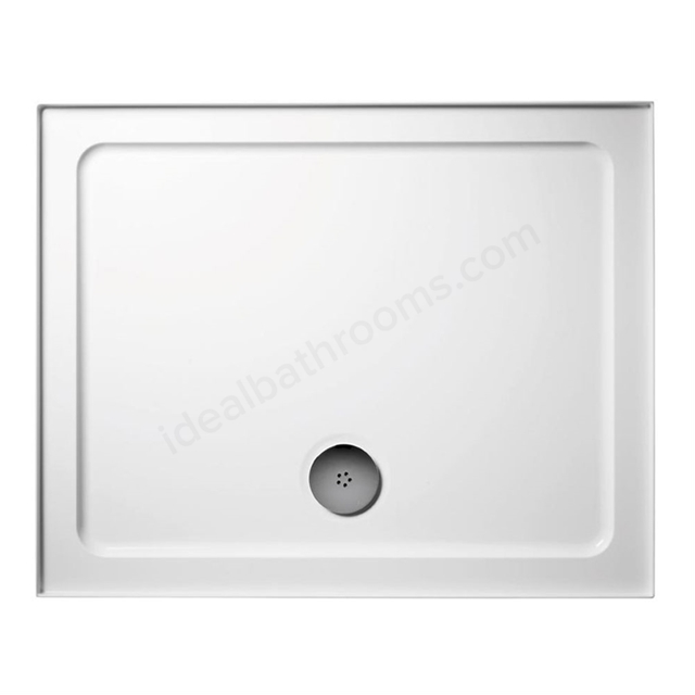 Ideal Standard IDEALITE Rectangular Low Profile Shower Tray + Waste; Upstand; 1200x760mm; White