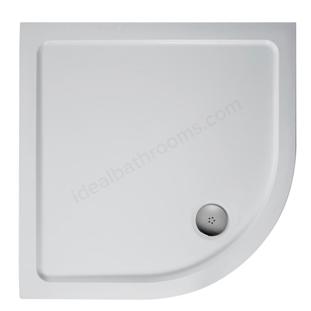 Ideal Standard IDEALITE Quadrant Low Profile Shower Tray + Waste; Flat Top; 800x800mm; White