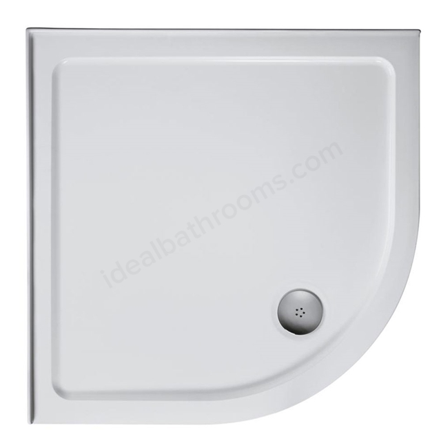 Ideal Standard IDEALITE Quadrant Low Profile Shower Tray + Waste; Upstand; 800x800mm; White