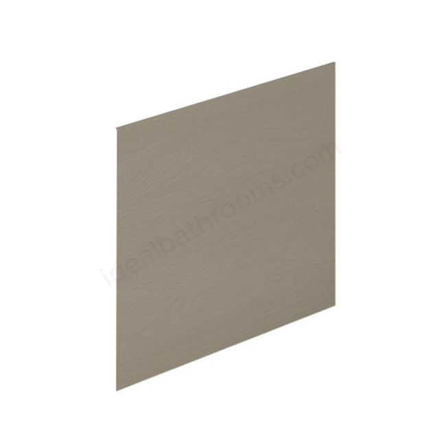 Essential VERMONT MDF Showerbath End Bath Panel; 700mm Wide; Light Grey