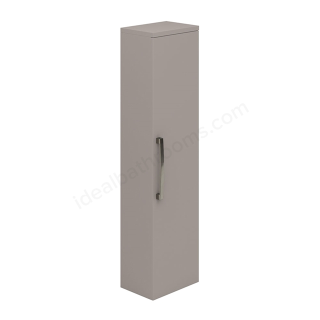 Essential NEVADA Wall Hung Column Unit, 1 Door, 350mm Wide, Cashmere
