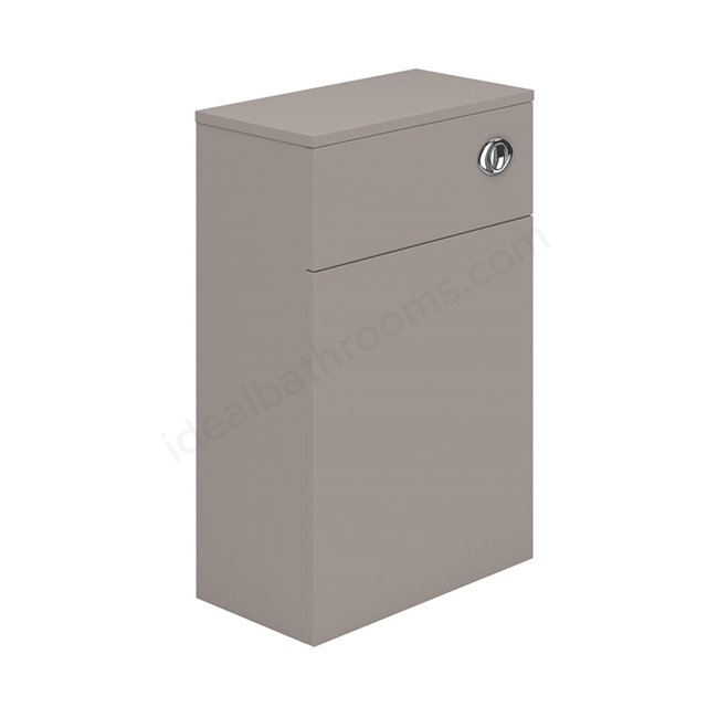 Essential NEVADA WC Unit; 500mm Wide x 200mm Deep; Cashmere