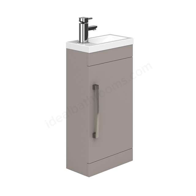 Essential NEVADA Floor Standing Washbasin Unit + Basin; 1 Door; 400mm Wide; Cashmere