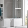 Essential KENSINGTON L Shape Shower Bath Pack; Right Handed; 1700x850mm; 0 Tap holes; White