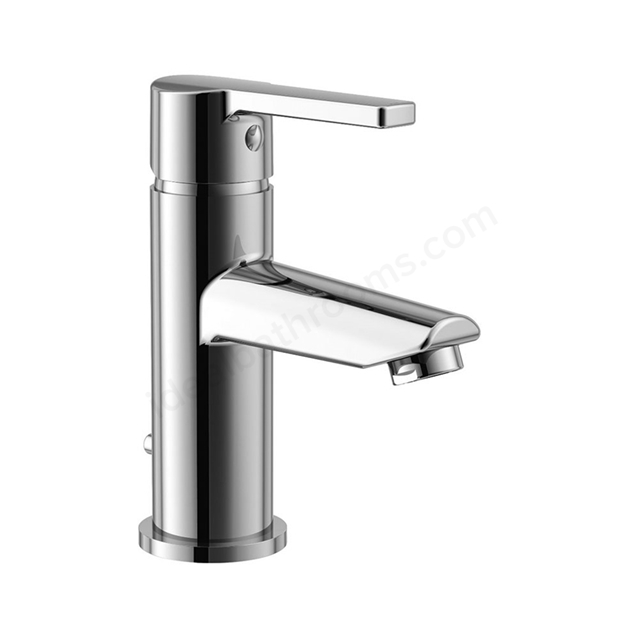 Essential DAWN Basin Mixer Tap, 1 Tap Hole, Push Top Waste, Chrome