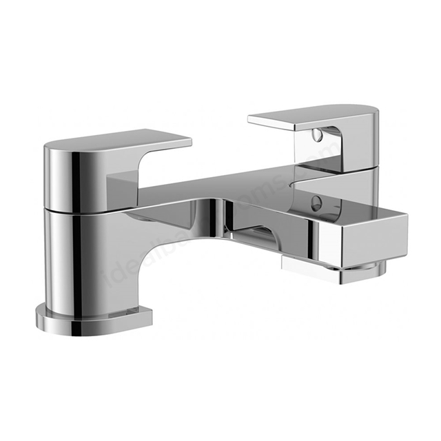 Essential DUSK Bath Filler Tap, 2 Tap Holes, Chrome