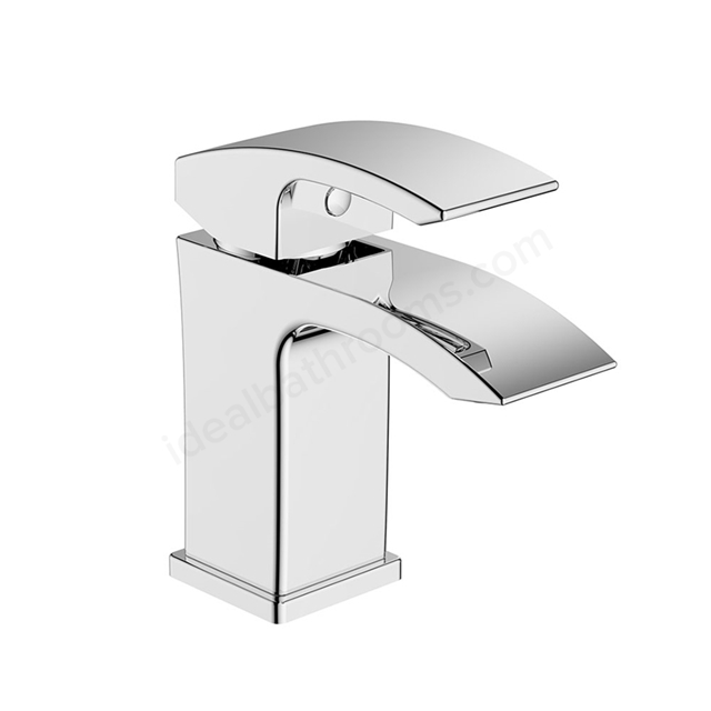 Essential CREST Basin Mixer Tap, 1 Tap Hole, Push Top Waste, Chrome
