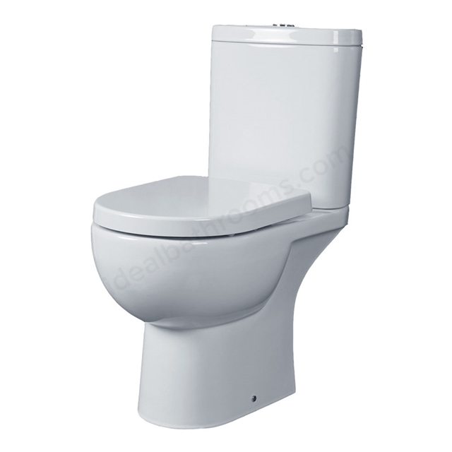 Essential LILY Close Coupled Pan + Cistern Pack; No Seat; White