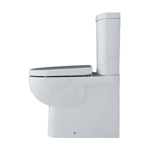 Essential LILY BTW Close Coupled Pan + Cistern Pack; No Seat; White