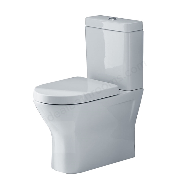 Essential IVY Close Coupled Back to Wall Pan + Cistern + Seat Pack, Soft Close Seat, White