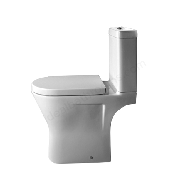 Essential IVY Close Coupled Pan + Cistern + Seat Pack, Soft Close Seat, White