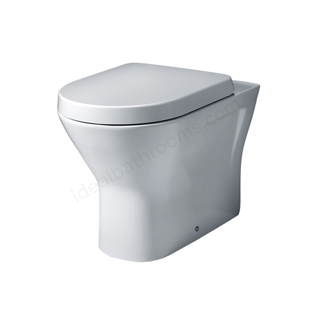 Essential IVY Back to Wall Pan + Seat Pack; Soft Close Seat; White