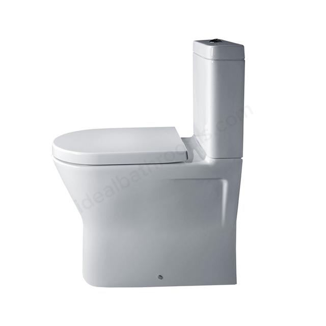 Essential IVY Comfort Close Coupled Back to Wall Pan Rimless + Cistern + Seat Pack; Soft Close Seat; White