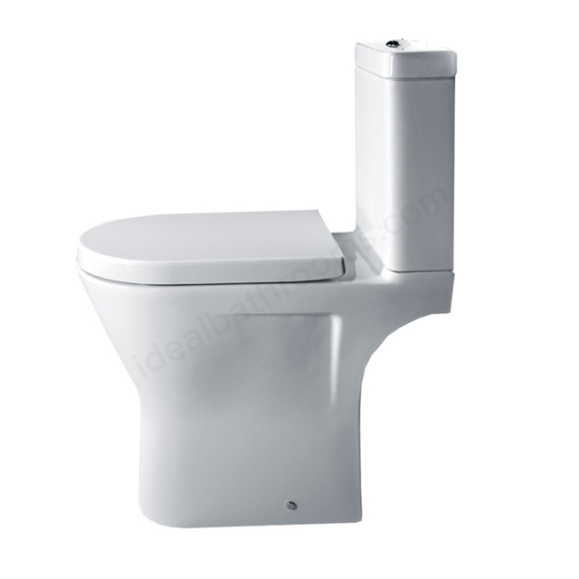 Essential IVY Comfort Close Coupled Pan Rimless + Cistern + Seat Pack; Soft Close Seat; White