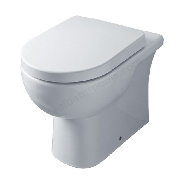 Essential LILY Back To Wall Pan Only, White