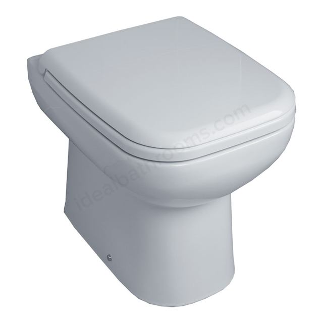 Essential VIOLET Back To Wall Pan + Seat Only, White