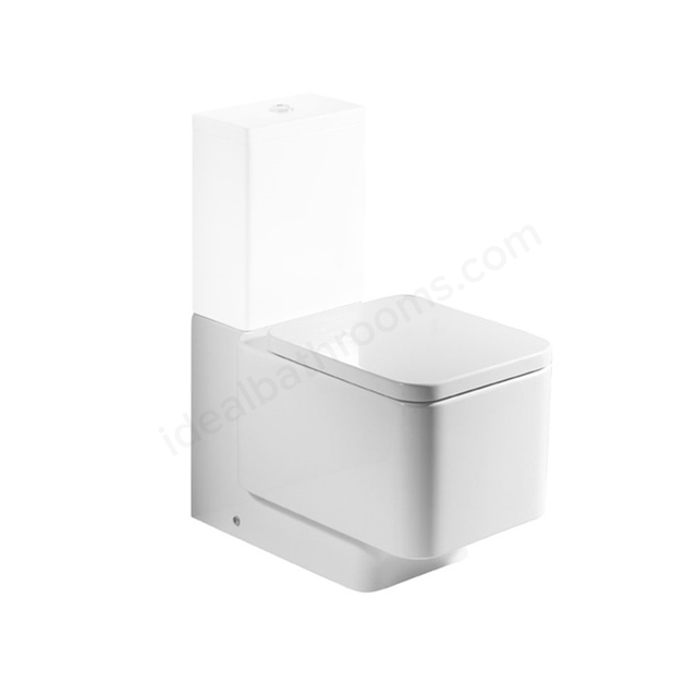 Roca ELEMENT Back to Wall Close Coupled Toilet Pan Only; White