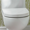 Essential LILY Toilet Seat & Cover, D Shape, Soft Close Hinge, White