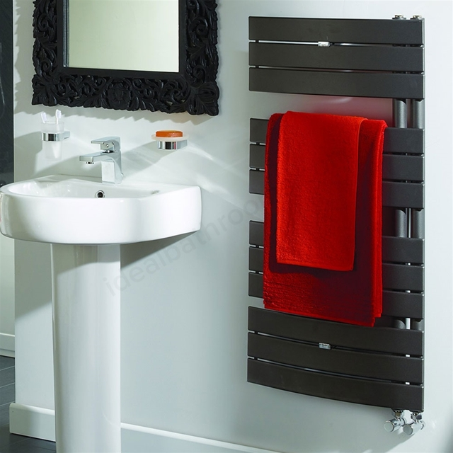 Essential ARIES Towel Warmer; Flat Panels; 1080mm High x 550mm Wide; Anthracite