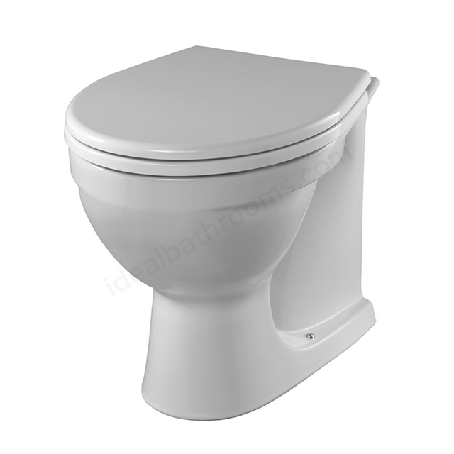 Twyford Alcona Close Coupled Toilet Pan Bottom Outlet