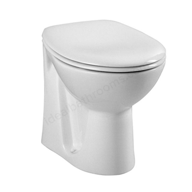 Vitra LAYTON Back to Wall Toilet Pan; White