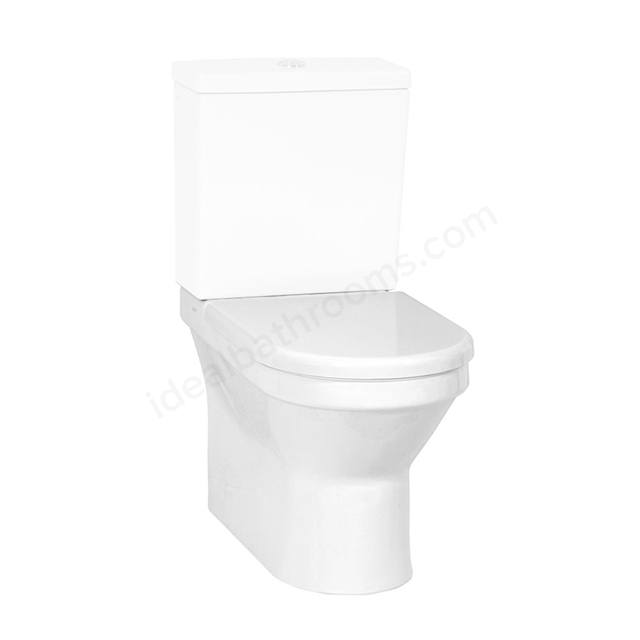 Vitra S50 Back To Wall Close Coupled Toilet Pan, White